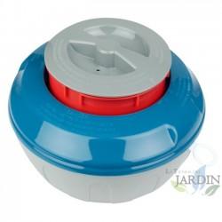 Floating chlorine dispenser for swimming pool tablets