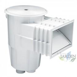 Skimmer 15 litros blanco boca standard y tapa circular