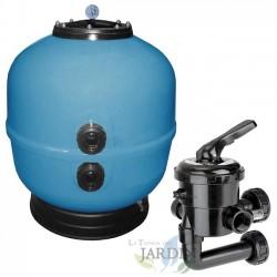 """Kit Filtro depuradora piscina 1 1/2"""" con válvula selectora incluida, modelo a elegir"""