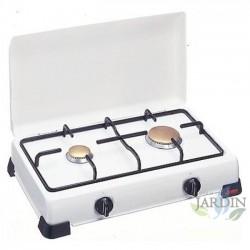 Cocina gas de 2 fuegos, quemador regulable