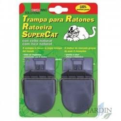 Trampa plástica para ratones. 2 unidades