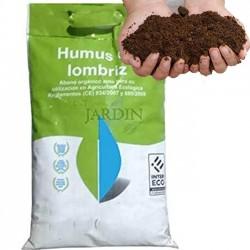 Abono orgánico Humus de lombriz. 10 Litros