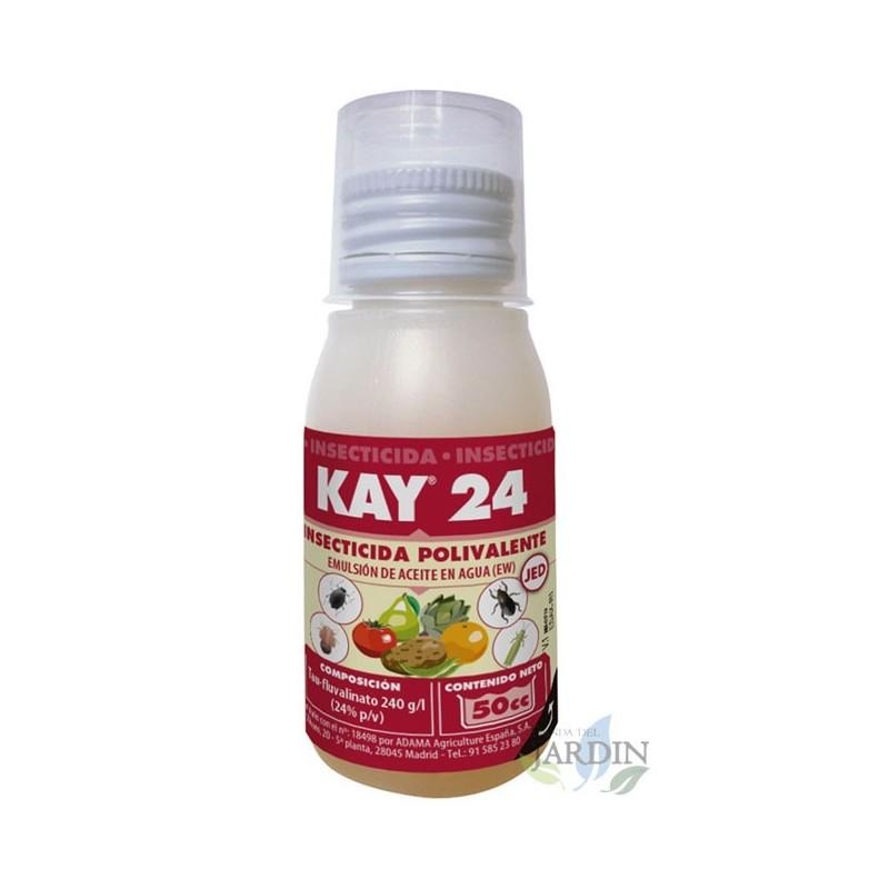 Insecticida Kay 24, 50cc. Uso en pulgón, trips, psila, prays, empoasca y otros