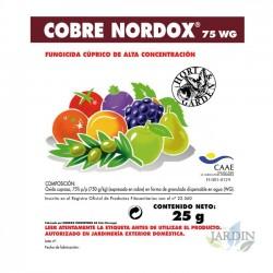 Cobre Nordox fungicida 25 gr, 75% oximo cuproso