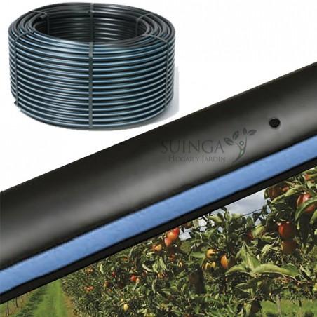 Tubo autocompensante 16mm a 125cm separación por gotero, bobina 400 metros