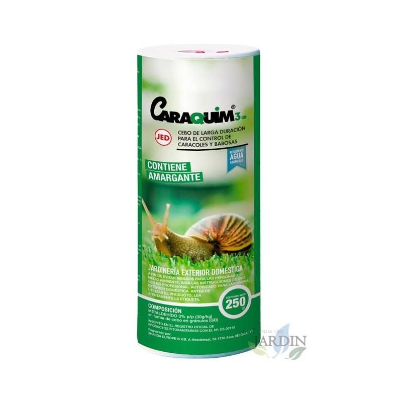 Molusquicida Caraquim 250 gr, resistente a humedad, no impermeable