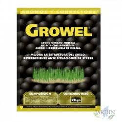 Abono orgánico Growel 20 gr, mejora estructura del suelo