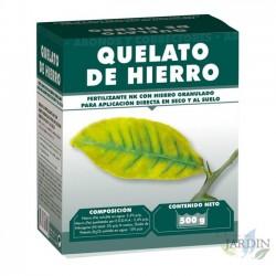 Fertilizante con Quelato de hierro granulado 500 gr.