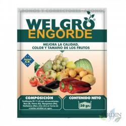 Fertilizante Welgro Engorde 30 gr. Mejora calidad, color y tamaño de los frutos