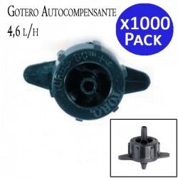 Gotero autocompensante 4,6 l/h. 1000 unidades