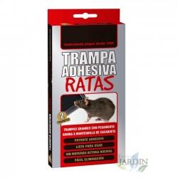 Trampa adhesiva ratas. Estuche 2 unidades