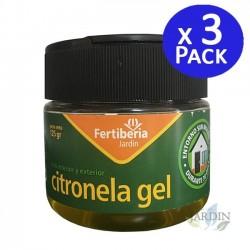 Pack 3 x Citronela en gel 125 gr, producto eficaz contra los mosquitos