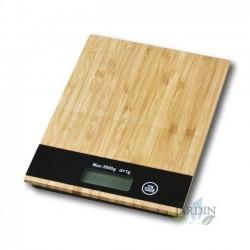 Báscula de cocina de madera 5 Kg, graduación 1 gr. 15,4x20,4 cm