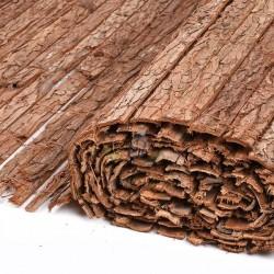 Corteza natural simple cara 1 x 3 metros, util para ocultación, sombraje o delimitación