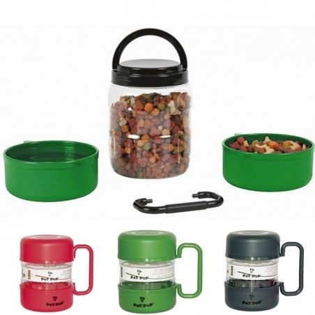 Pet Travel Feeder with Two Plates