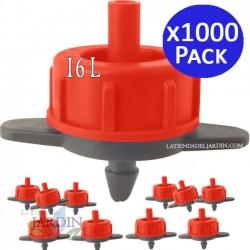 Detachable 16 l / h self-compensating dripper. 1000 units