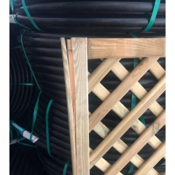 Panel de Celosía recto 45x180 cm, cuadros 4 cm con defecto en esquina