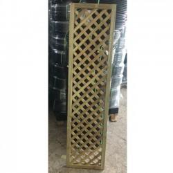 Panel de Celosía recto 45x180 cm, cuadros 4 cm con rallado lateral