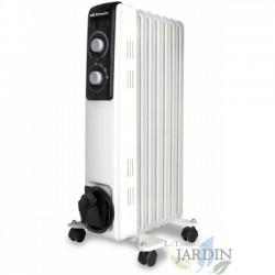 Radiador de aceite 7 elementos caloríficos de gran inercia térmica. Potencia máxima 1500W.