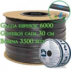 Cinta riego por goteo 16mm 3500 mts. Galga espesor 6 mil. Goteros 1,5 l/h cada 30 cm