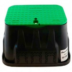 Medium rectangular irrigation box with lid and screw