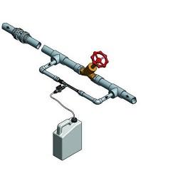 Inyector venturi de fertilizante 32Ø 7mm con llave y caudalímetro