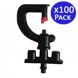 Microaspersor de riego 180º. 100 unidades