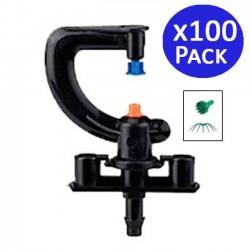 Microaspersor de riego 360º a chorros. 100 unidades