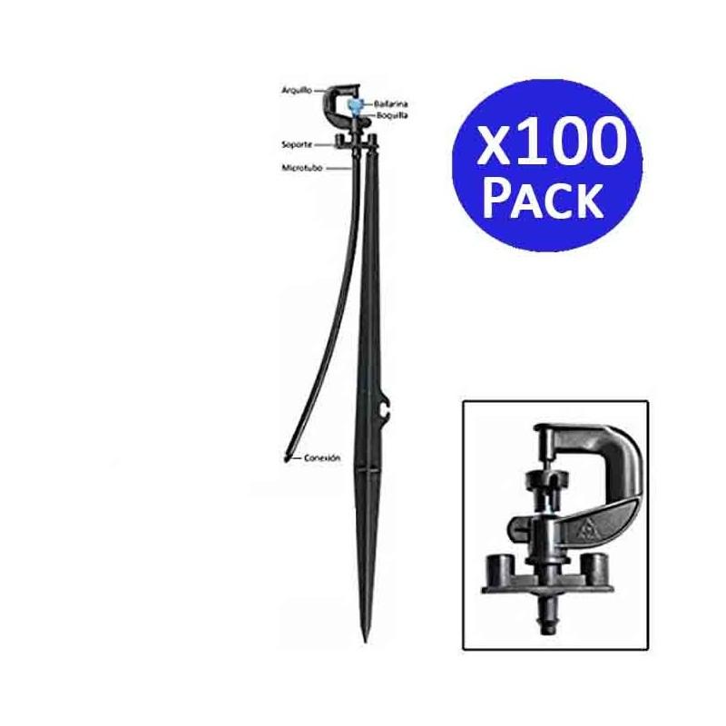 Microaspersor Bailarina 360º con estaca. 100 unidades