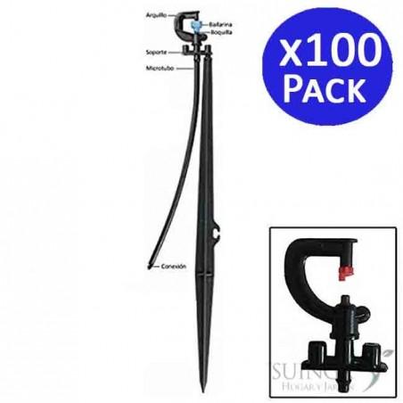 Microaspersor de riego 180º con estaca. 100 unidades