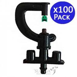Microaspersor de riego 90º. 100 unidades
