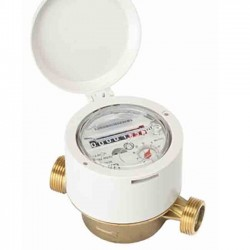 Single jet water meter for cold water