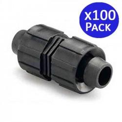 Unión recta cinta de riego 16mm. 100 unidades