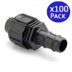 Union Irrigation tape to 16mm drip tube. 100 units
