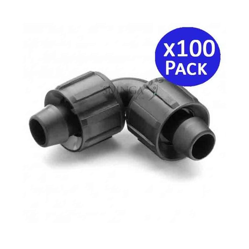 Union elbow Drip irrigation tape 16mm. 100 units