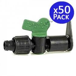 Llave de paso Layflat a Cinta 16mm. 50 unidades