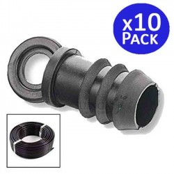 Drip irrigation plug 16mm black. 10 units