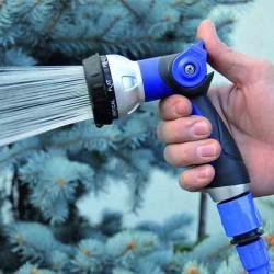 Soporte metal para mangueras de riego