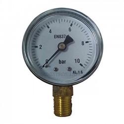 "Manómetro esfera seca 0-10 bar 1/4"""