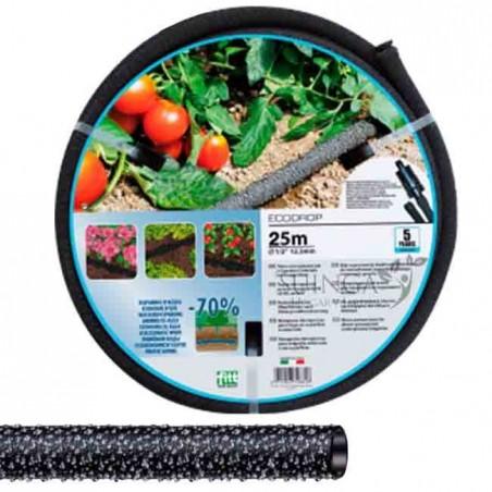 Manguera jardin exudante porosa 12,5mm 25mts