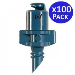 Microaspersor de riego 180º 1,8-2,2 mts. 100 unidades