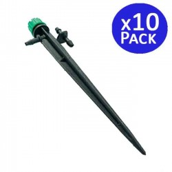 Adjustable dripper 0-50 l / h with stake. 10 units