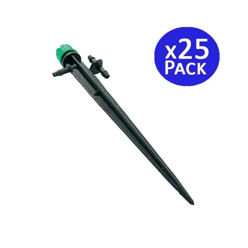 Adjustable dripper 0-50 l / h with stake. 25 units