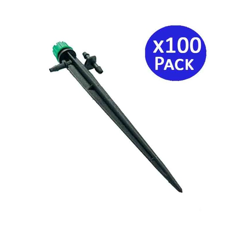 Adjustable dripper 0-50 l / h with stake. 100 units
