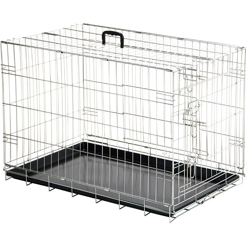 Show dog cage with tray