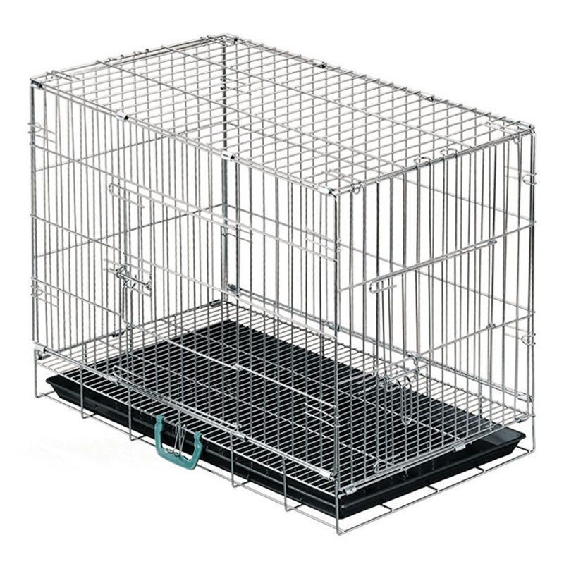 Dog cage for transport and exhibition with floor
