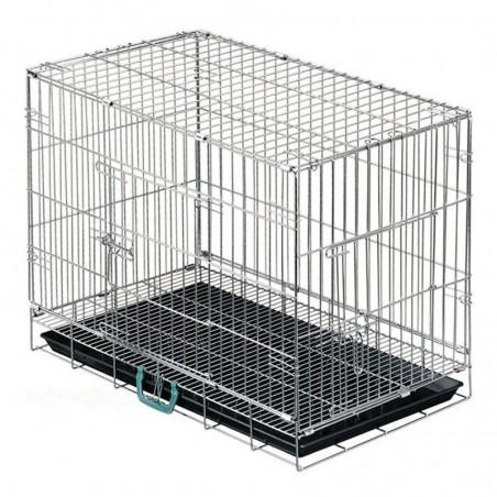 Jaula perros para transporte y exposición con suelo