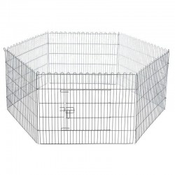 Exagonal dog cage for exhibition