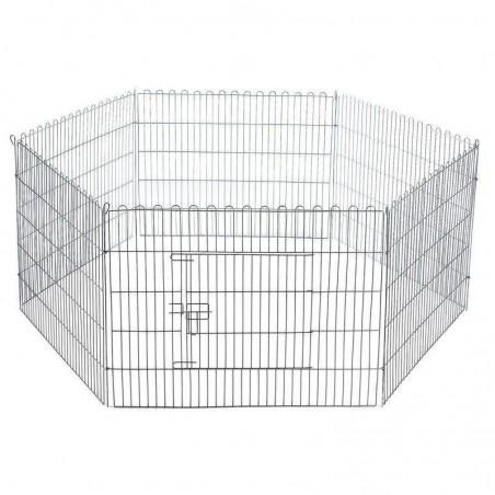Jaula perros parque hexagonal para exposición