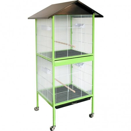 Aviary Venice 60x60x167 cm with 2 compartments